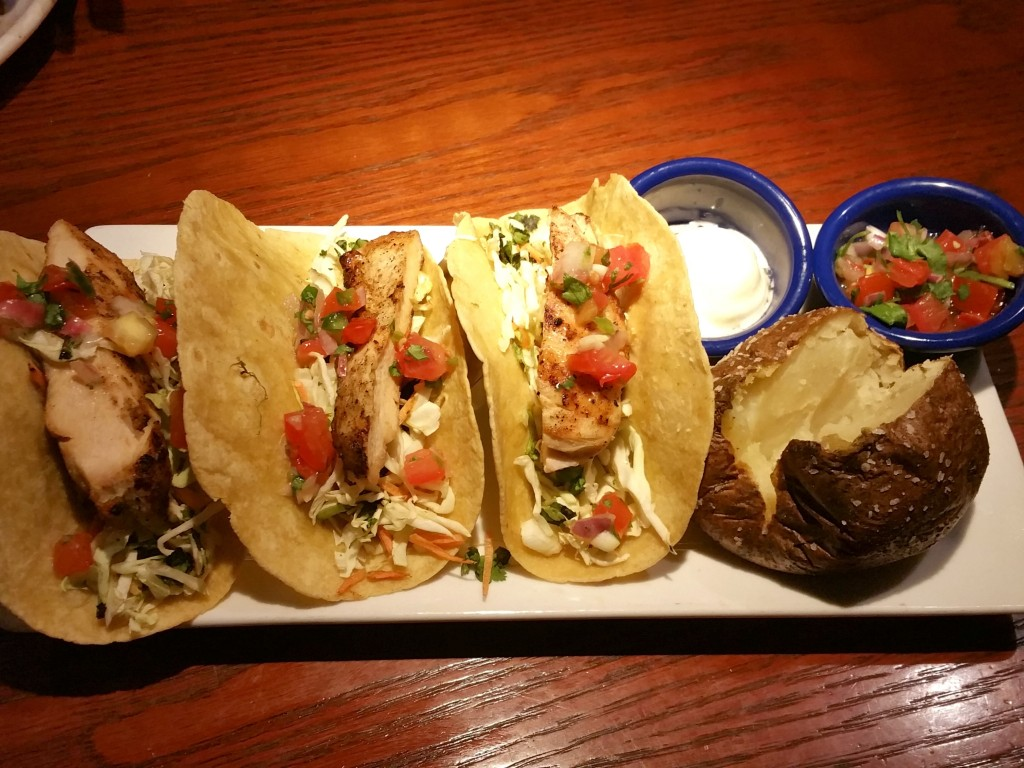 Wood Grilled Chicken Tacos at Red Lobster