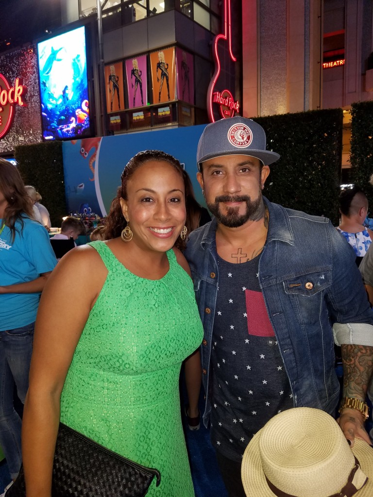 A.J. McLean and Leanette Fernandez