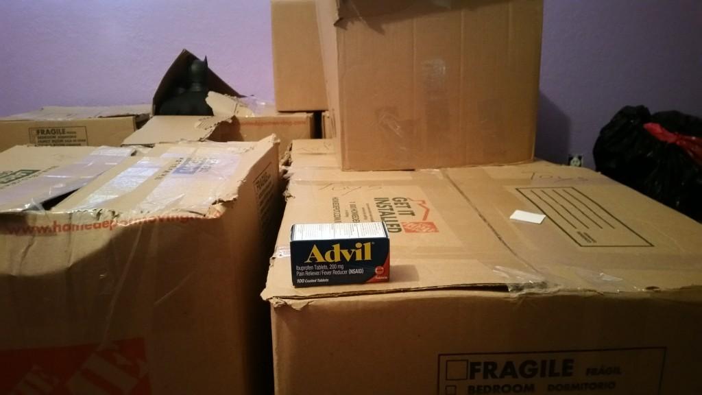 Advil on boxes