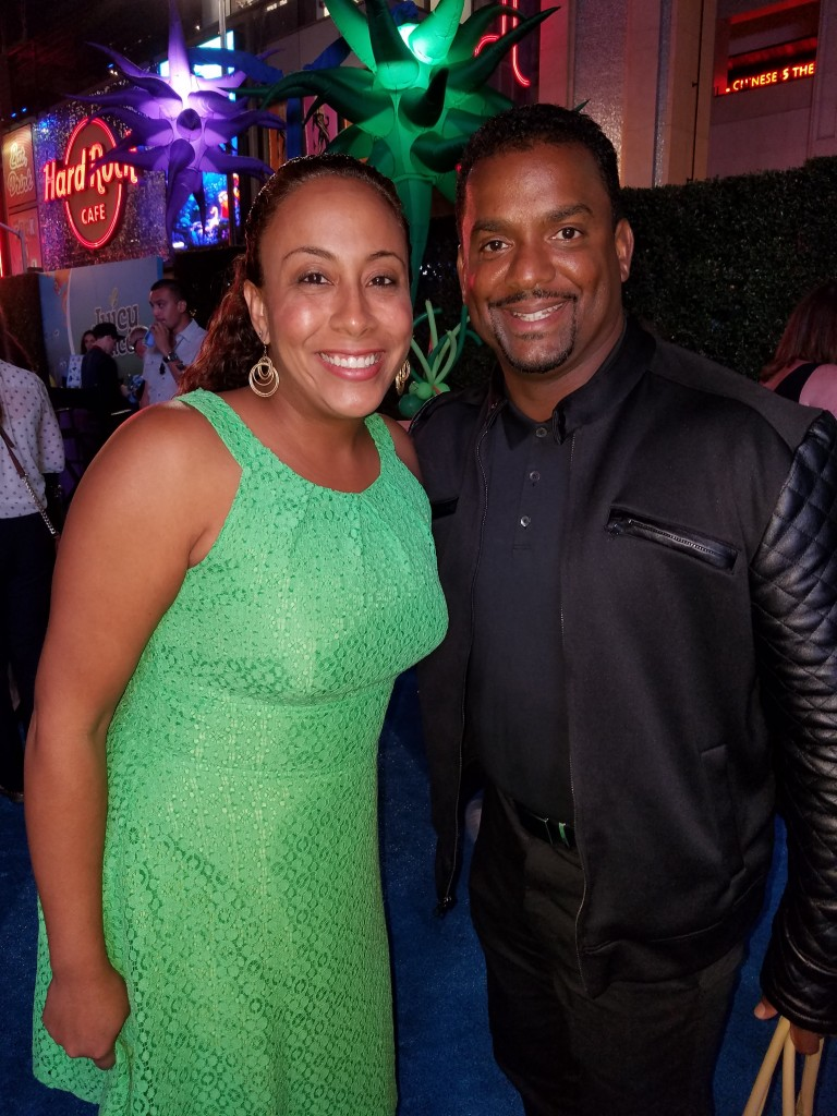 Alfonso Ribeiro and Leanette Fernandez