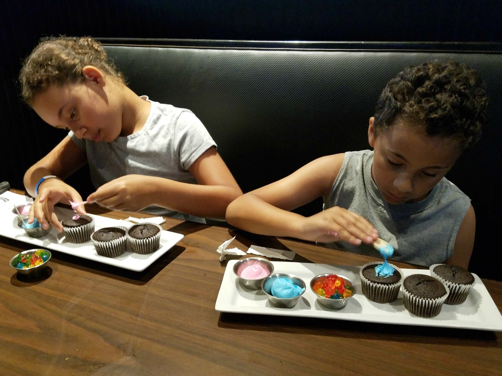 Decorating cupcakes at Duffy's Sports Grill