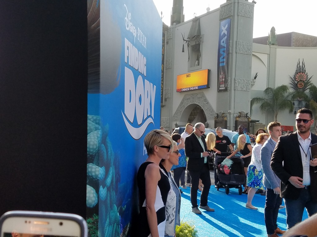 Ellen DeGeneres and Portia deRossi at the Finding Dory World Premiere
