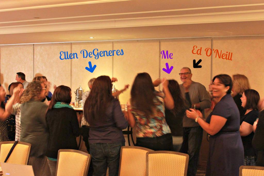 Ellen DeGeneres dancing with Leanette Fernandez