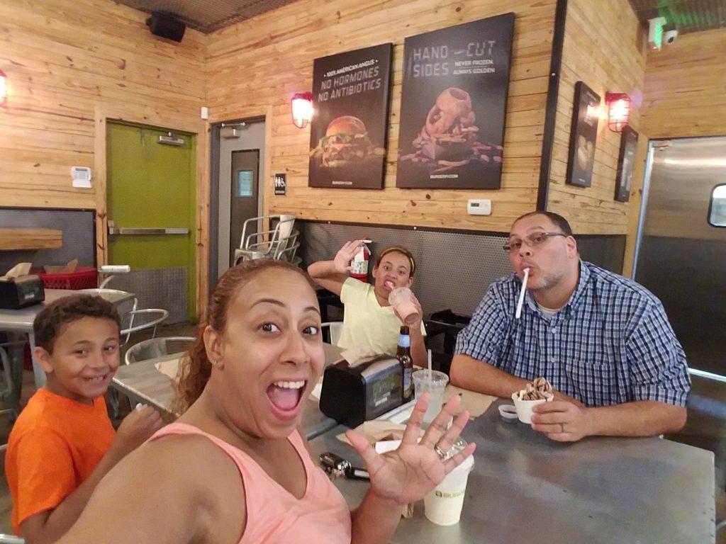 Family at BurgerFi