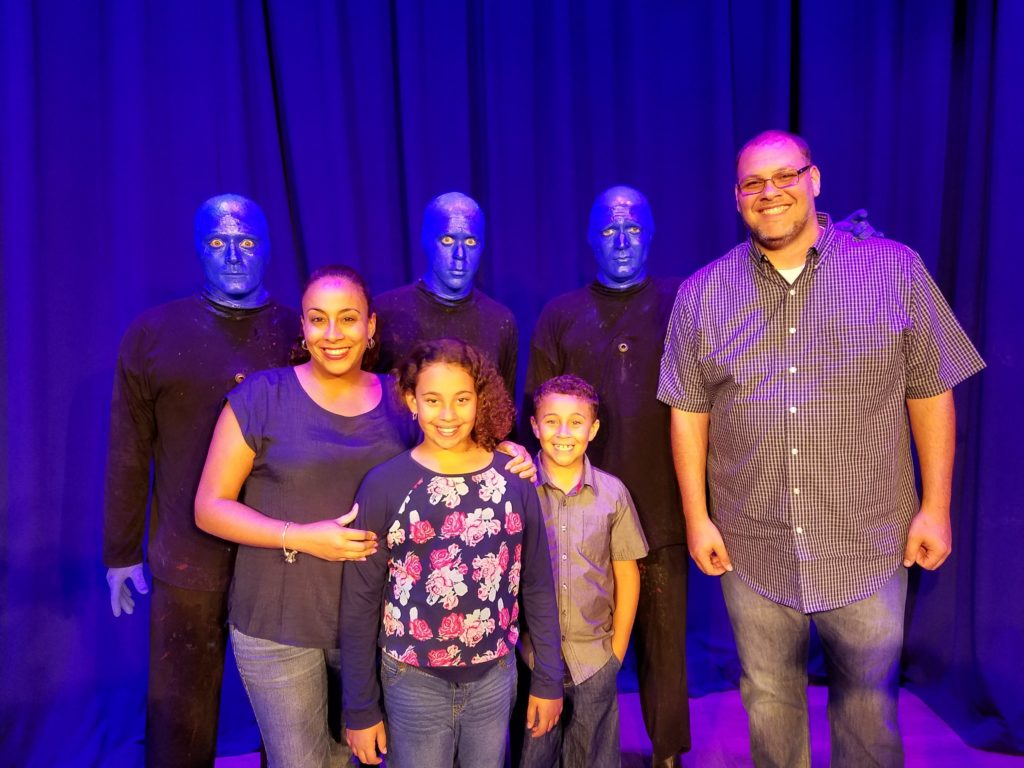 Fernandez Family  and the Blue Man Group