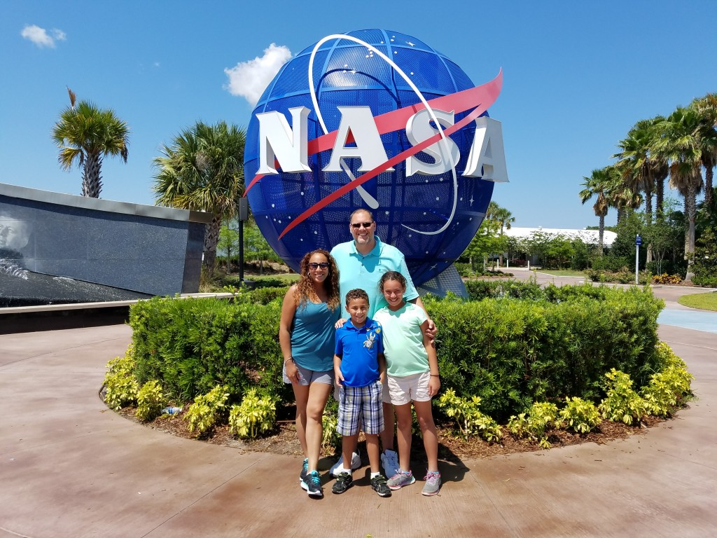 Fernandez Family at the Kennedy Space Center
