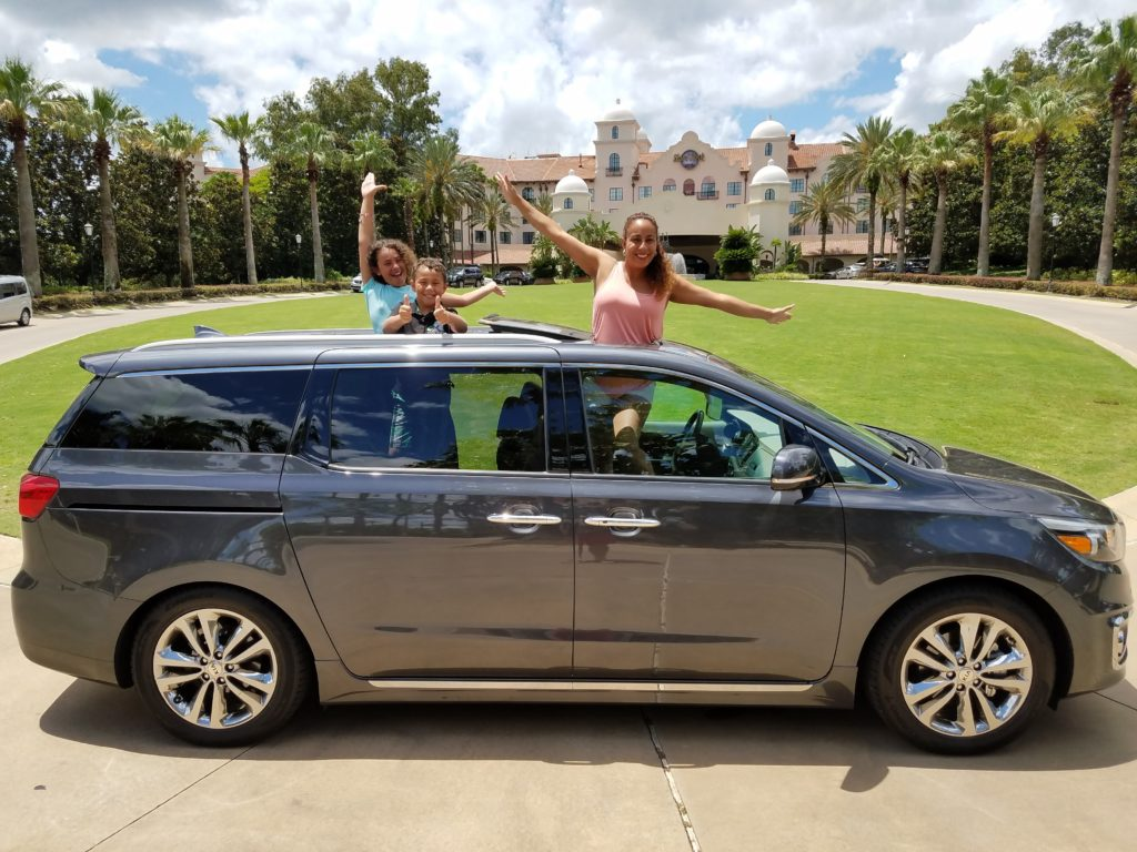 Fernandez Family in the Kia Sedona