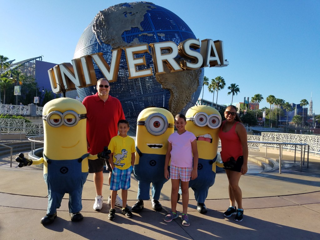 Fernandez Family with the Minions