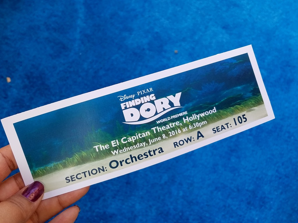 Finding Dory World Premiere Ticket