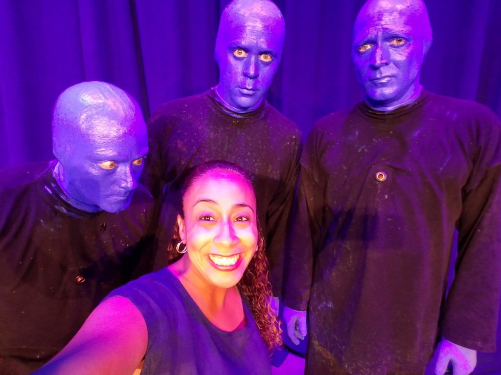 Leanette Fernandez and the Blue Man Group