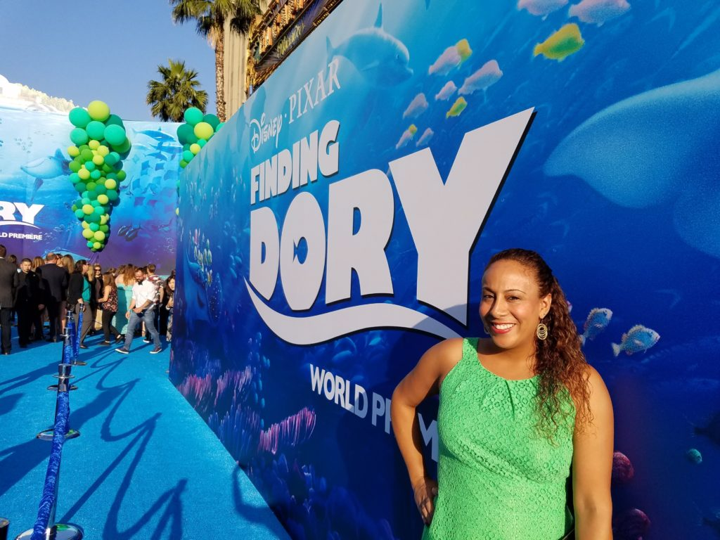 Leanette Fernandez at the Finding Dory World Premiere