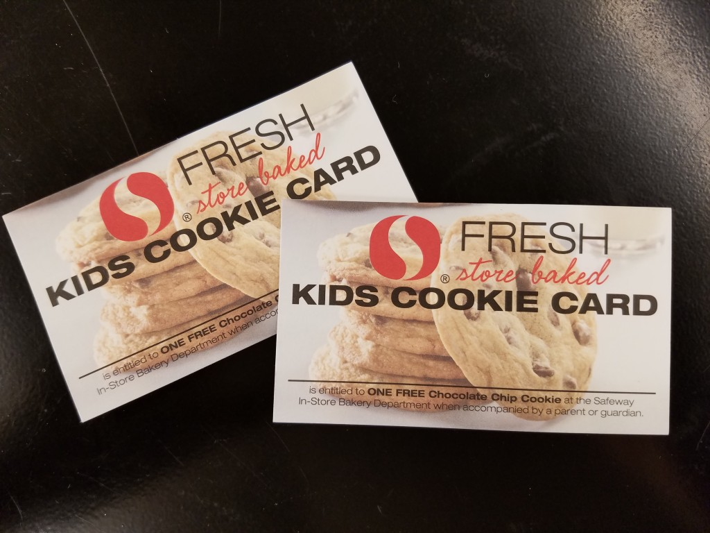 Safeway Stores Free Kids Cookie Cards