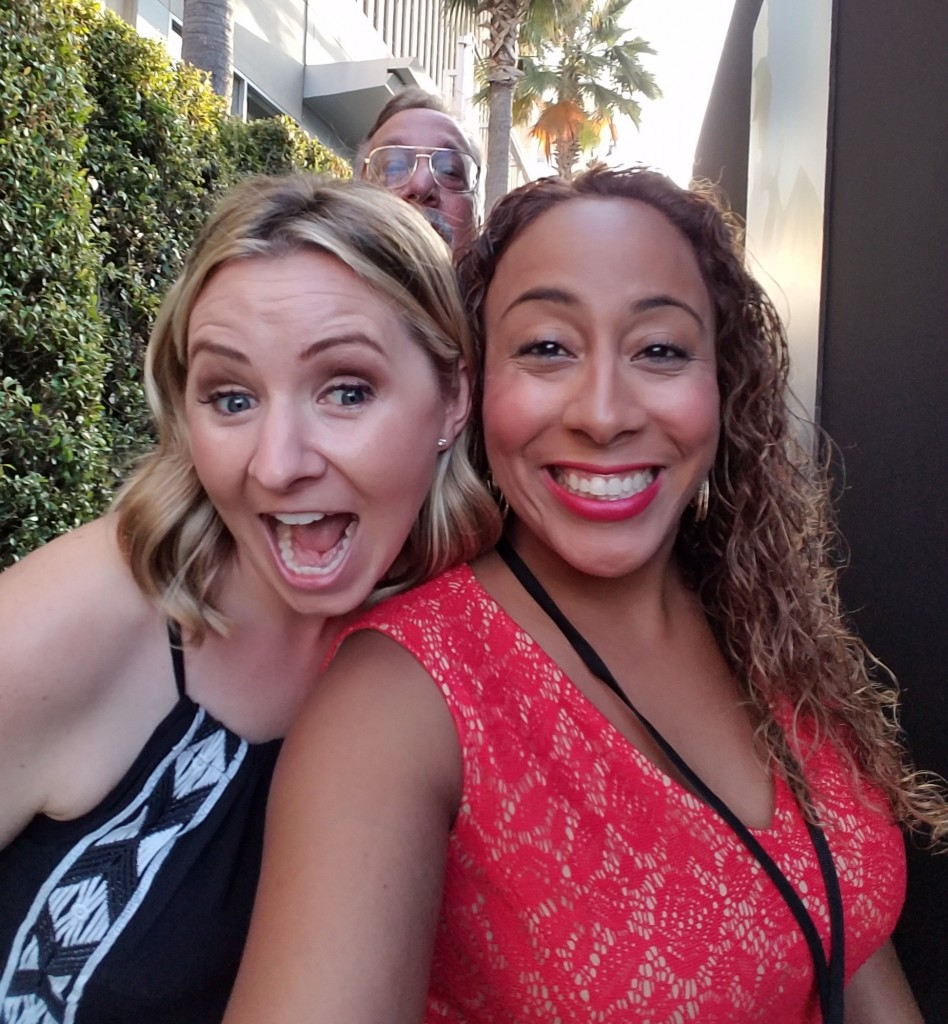 Beverley Mitchell and Leanette Fernandez