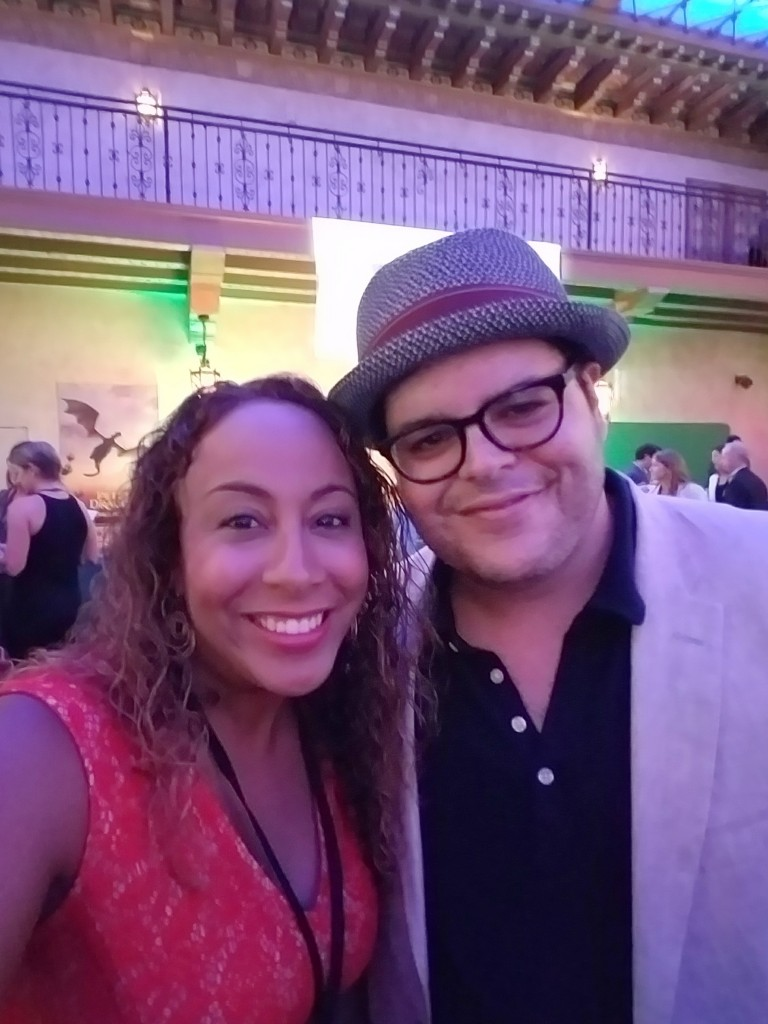 Josh Gad and Leanette Fernandez