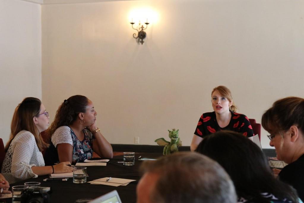 Leanette Fernandez interviewing Bryce Dallas Howard