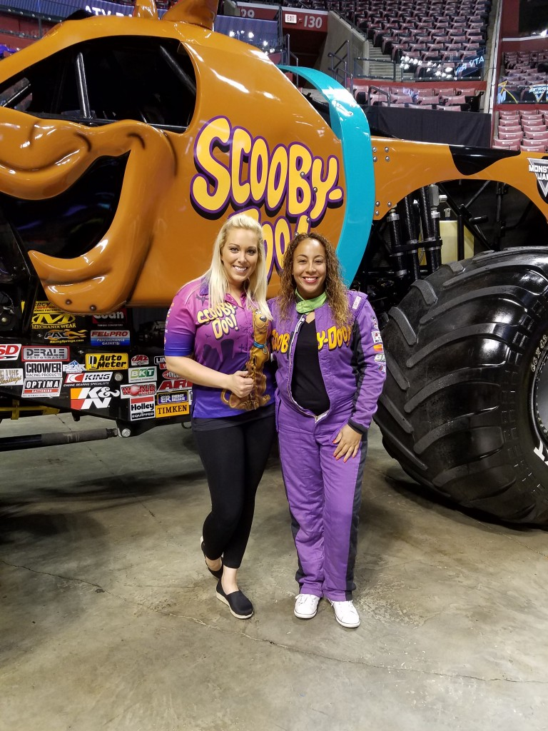 Leanette Fernandez with Scooby-Doo driver Bailey Shea