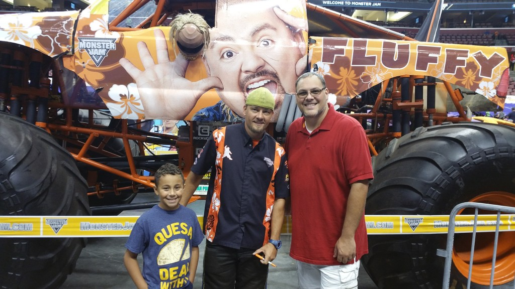 My Boys with Fluffy Monster Truck Driver