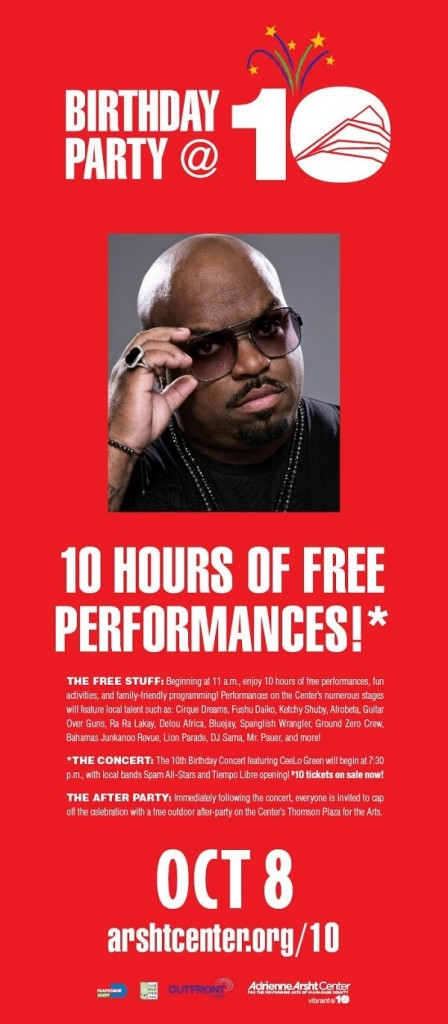 arsht-center-10th-birthday-party-featuring-ceelo-green