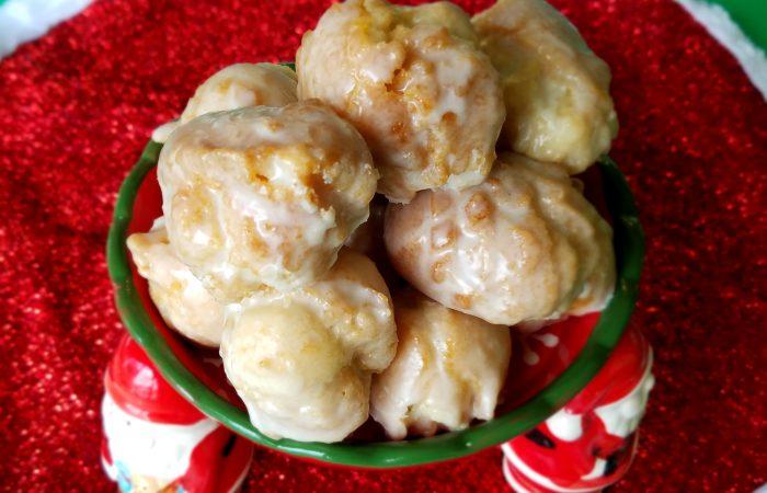 Eggnog Glazed Doughnut Holes