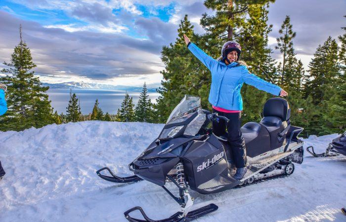 Snowmobiling in Lake Tahoe