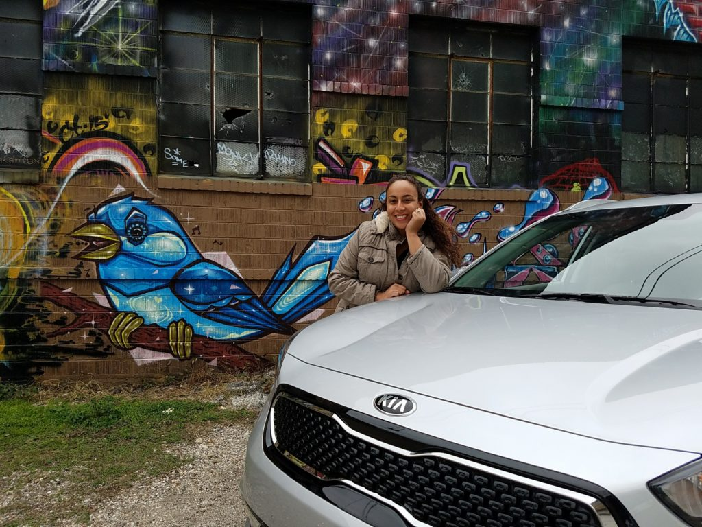 Leanette Fernandez with the Kia Niro