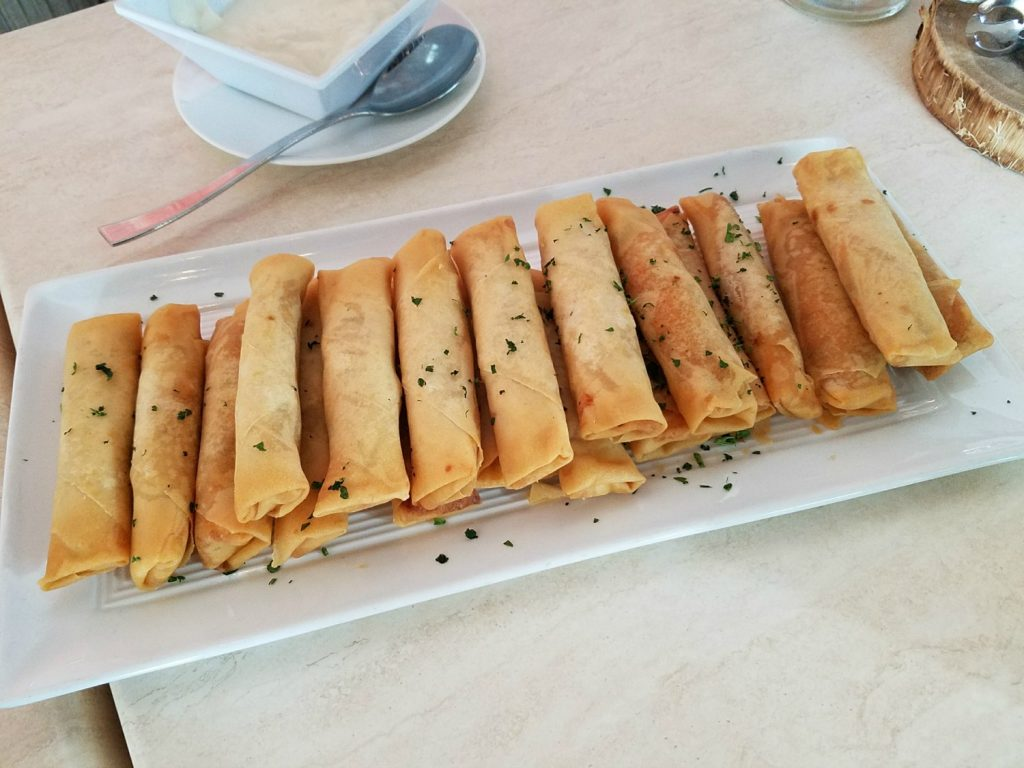 Buffalo Chicken Spring Rolls at the Waterstone Rum Bar & Grill