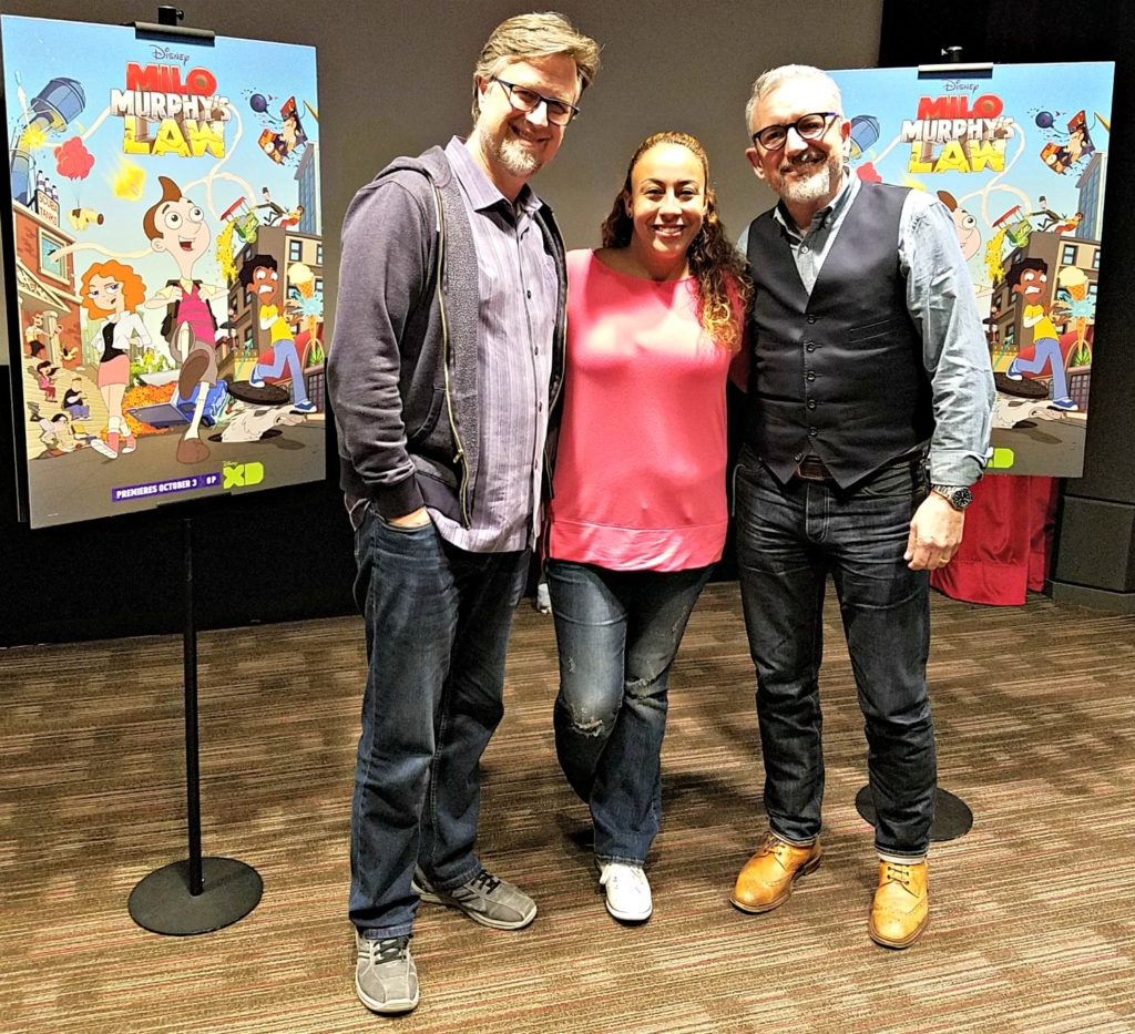 Dan Povenmire, Jeff Marsh and Leanette Fernandez R