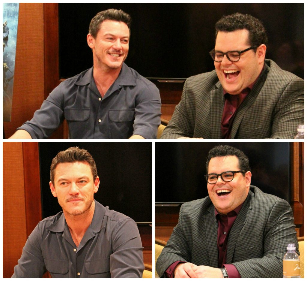 Josh Gad and Luke Evans Collage