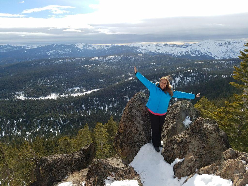 Leanette Fernandez on Mount Watson