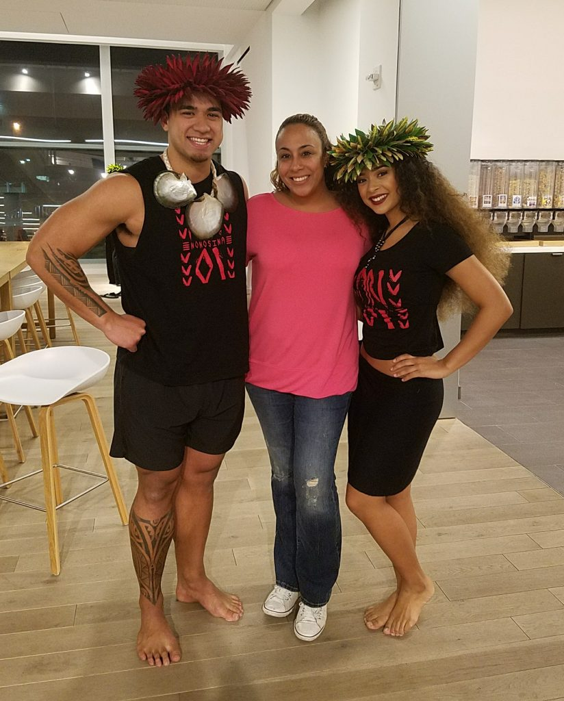 Leanette Fernandez with Moana's Polynesian Dancers
