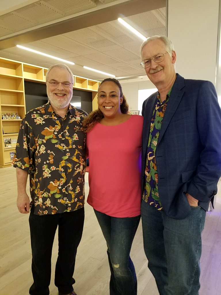 Ron Clements, John Musker and Leanette Fernandez
