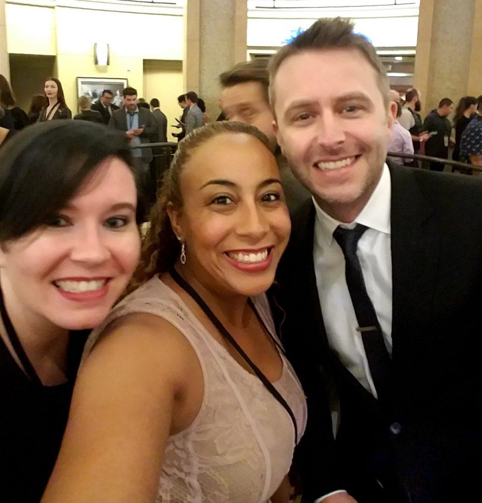 Chris Hardwick and Leanette Fernandez