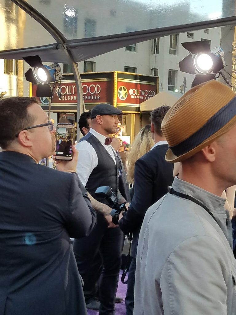 Dave Bautista at the Guardians of the Galaxy Vol 2 World Premiere