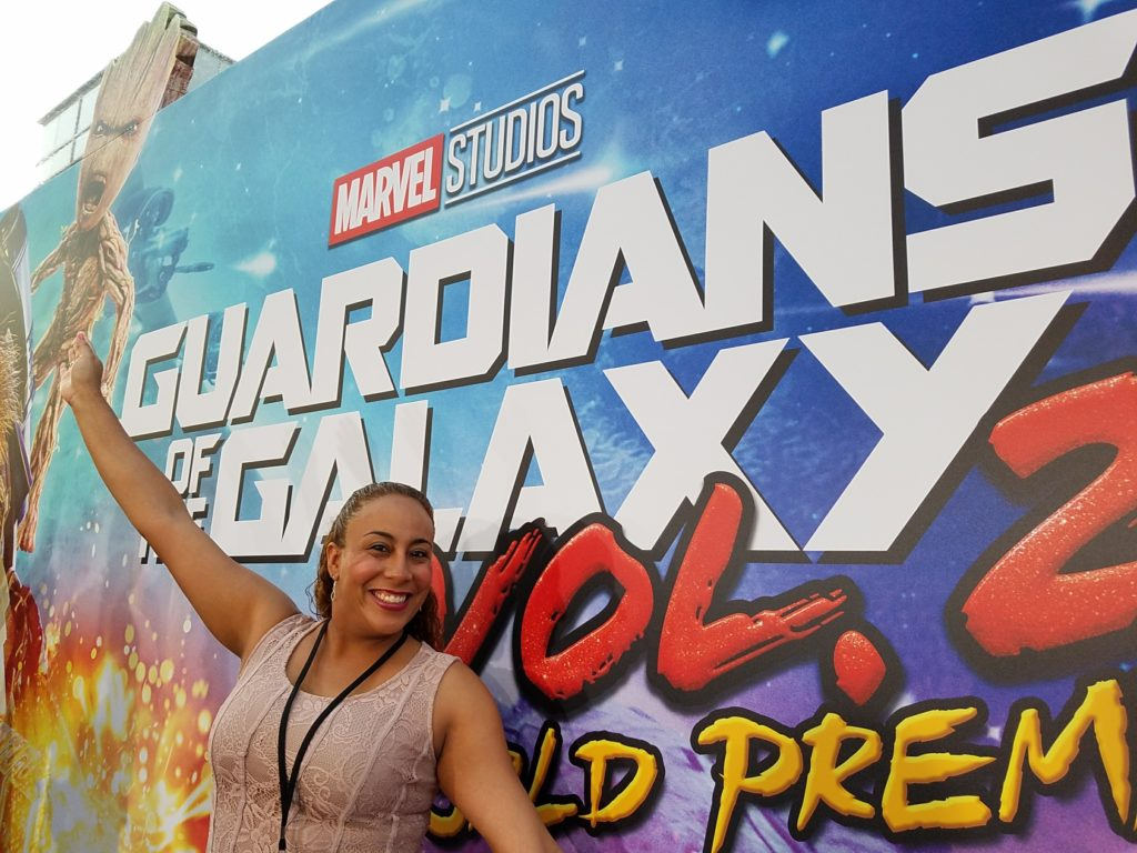 Leanette Fernandez at the Guardians of the Galaxy Vol 2 World Premiere