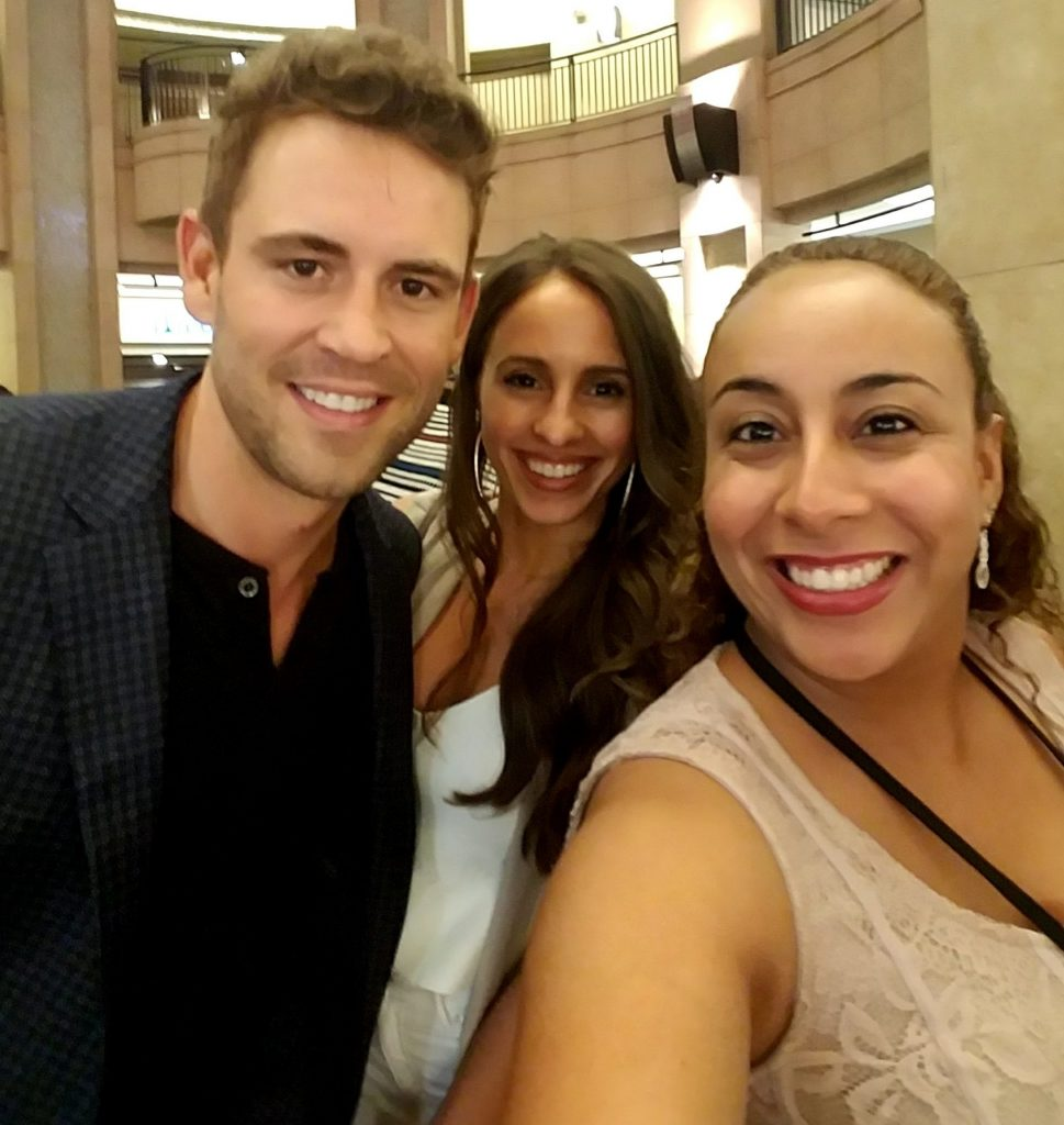 Nick Viall, Vanessa Grimaldi and Leanette Fernandez