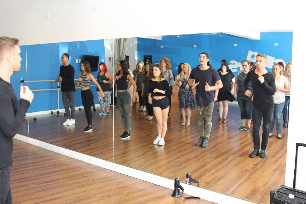 Practicing with Dancing With The Stars Troupe Members