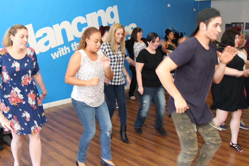 Practing Dancing with the start dance routine