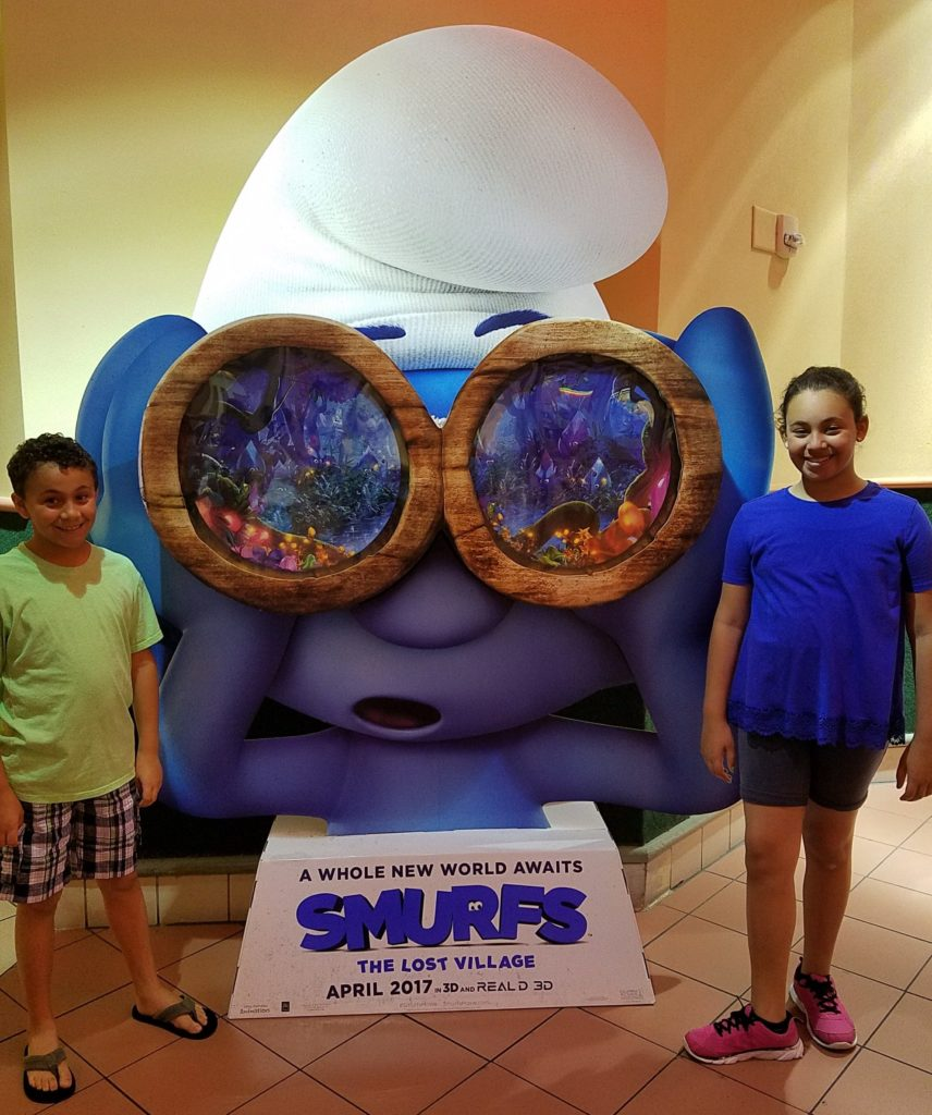 kids at the Smurfs The Lost Village screening
