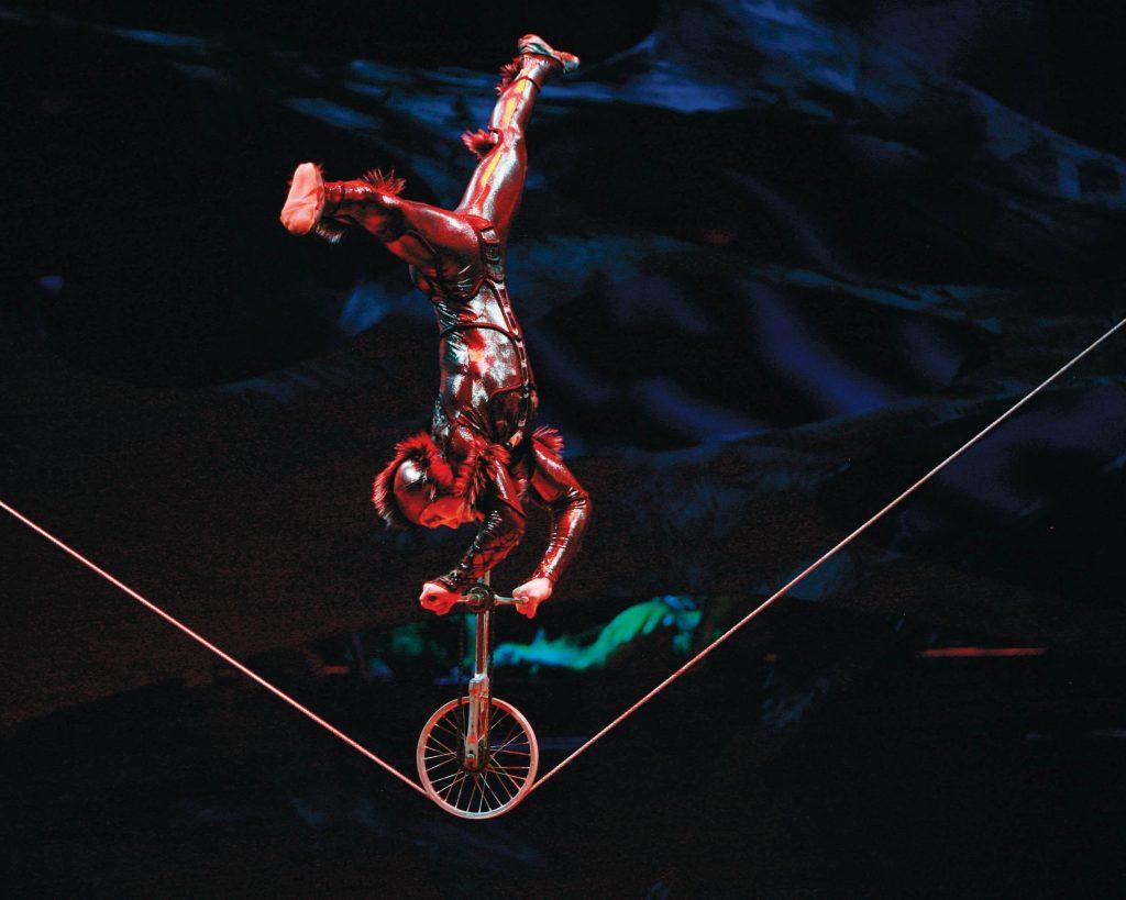 Cirque Du Soleil's OVO performer on bike