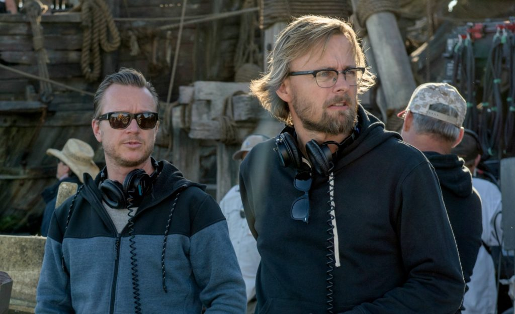 "Disney's ""PIRATES OF THE CARIBBEAN: DEAD MEN TELL NO TALES"" L to R: Director Espen Sandburg and Director Joachim Rønning ©Disney Enterprises, Inc.  All Rights Reserved."