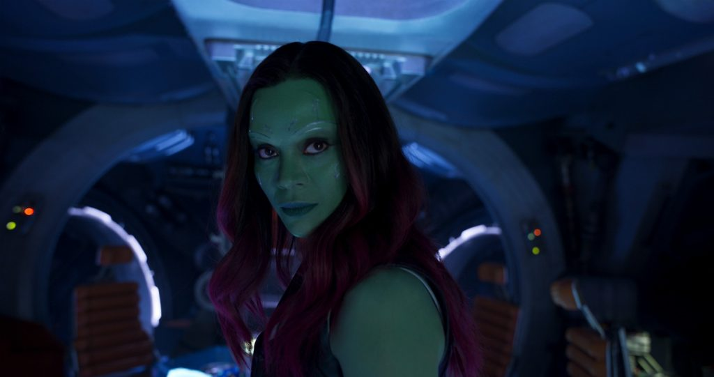Guardians Of The Galaxy Vol. 2 Gamora (Zoe Saldana) Ph: Film Frame ©Marvel Studios 2017