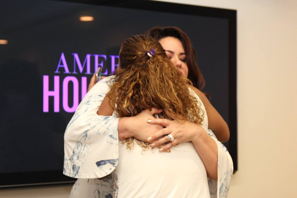 Katy Mixon and Leanette Fernandez Hugging