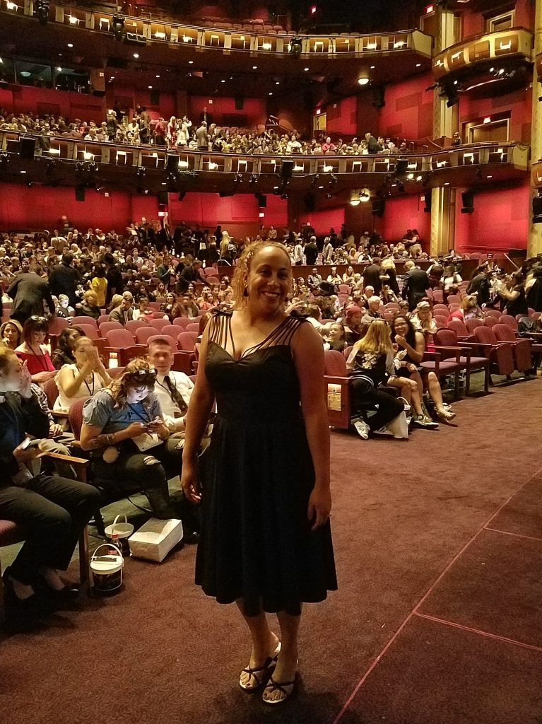 Leanette Fernandez inside the Dolby Theater