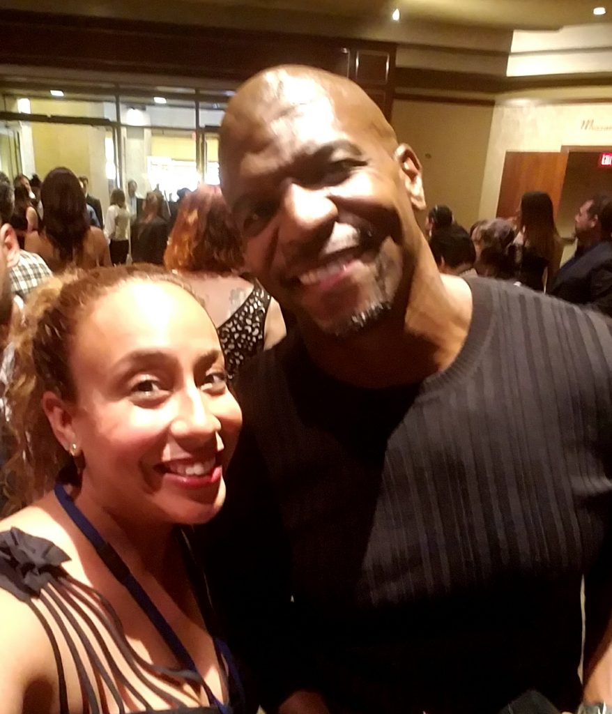 Terry Crews and Leanette Fernandez at the Pirates of the Caribbean premiere