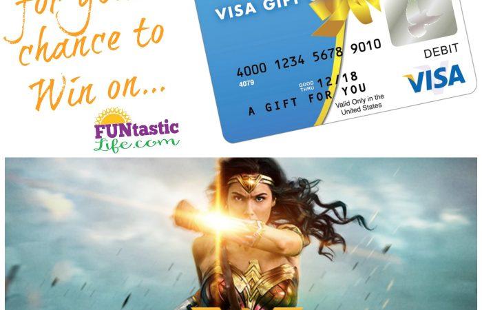 Wonder Woman $50 Visa Gift Card Giveaway