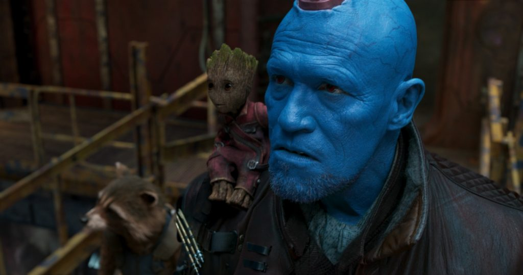 Guardians Of The Galaxy Vol. 2 L to R: Rocket (voiced by Bradley Cooper), Groot (voiced by Vin Diesel) and Yondu (Michael Rooker) Ph: Film Frame ©Marvel Studios 2017