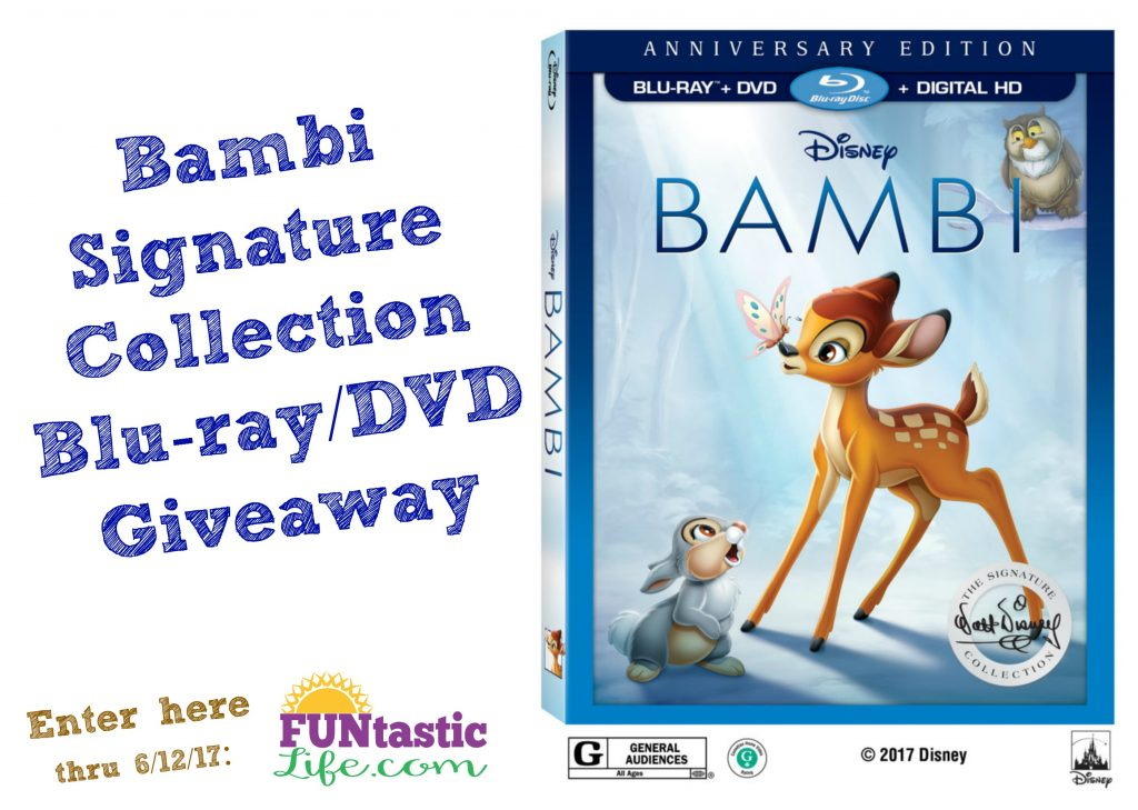 Bambi Signature Collection Blu-ray DVD Giveaway Image
