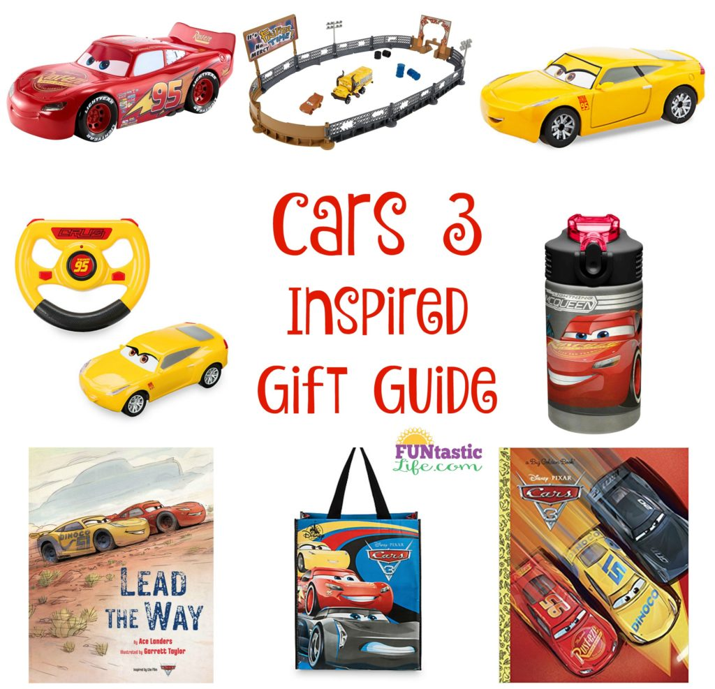 Cars 3 Inspired Gift Guide Collage
