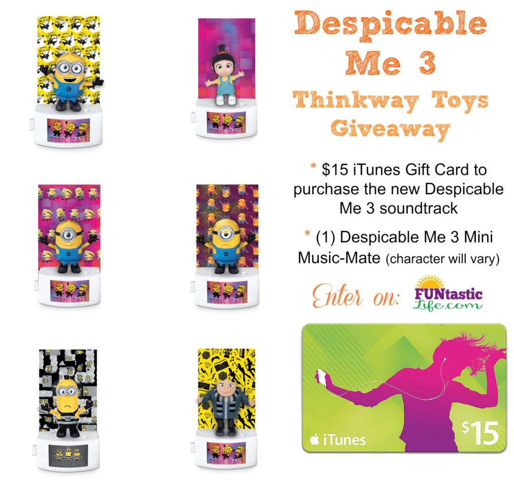 Despicable Me 3 Thinkway Toys Giveaway Collage