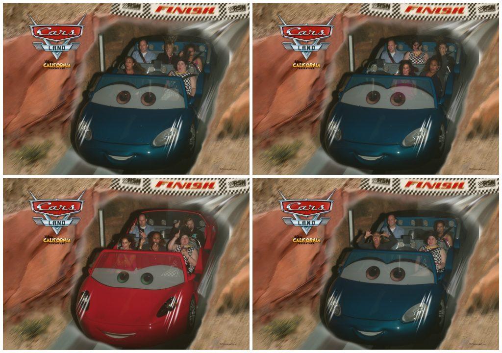 Disney California Adventure Racers Ride Collage